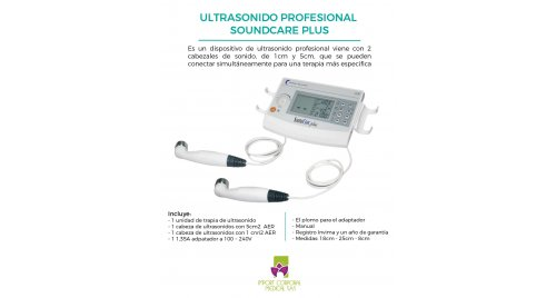 Ultrasonido Sound Care Plus 1mhz Y 3 Mhz Frecuencias